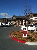 Retirement Community Reno Nevada. Valet parking signs and the driveway.