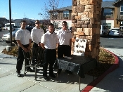 The valets in middle of winter at retirement community in Reno Nevada.